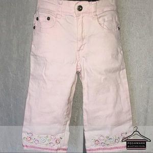 853edfd490a917 ... Zana Di💜Embroidered Capri Pink Pants Size 6 Slim ...